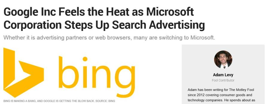 Google Feels the heat from Microsoft
