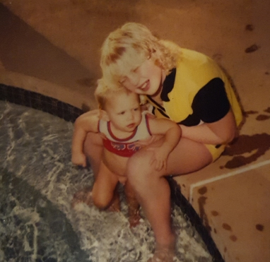 Trying to drown me in the pool...